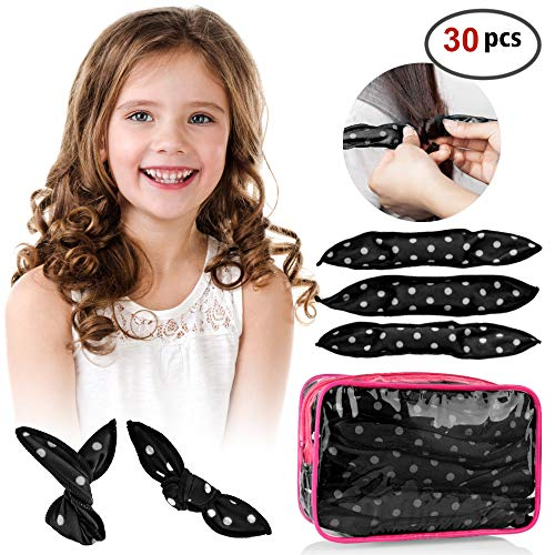 30pcs Hair Rollers - HailiCare Foam Hair Roller for Hair DIY...