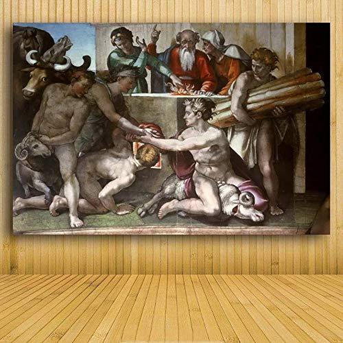 hanimj (1000 Piezas de Rompecabezas de Madera para Adultos)¡Creación de Adán! ¡Mano de Dios! Impresa religión de Pared Famosa al óleo Copia de Michelangelo