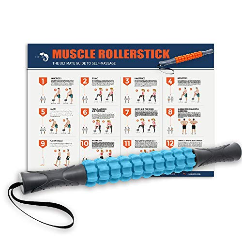 Save %64 Now! Muscle Roller, Kamileo Massage Roller Stick for Relieving Muscle Soreness Cramping Tig...