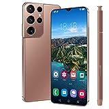 NYDCTHOM Teléfonos celulares desbloqueados S21 Ultra Smartphone, 6.7 Pulgadas FHD + 1200 * 2640 Pantalla con batería de 6800mAh, 4GB RAM + 64GB ROM, Dual Sim & Face ID Teléfono móvil Android 10.0