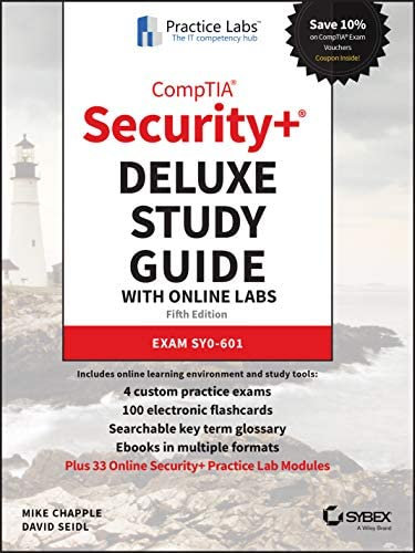 CompTIA Security Deluxe Study Guide with Online Lab Exam SY0 601 product image