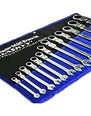 22 st. HASKYY – Ledhylsnyckel sats 8-32 mm gaffelnyckel spärrnyckel