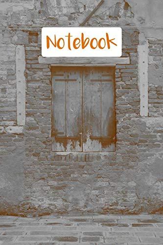 Notebook: Notizheft, Motiv: Hauswand mit Fenster