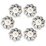 Pomelli vintage in ceramica dipinti a mano, a forma di zucca, per credenza, armadio, cassetti, porte, pomelli, bianchi con motivo floreale viola, 6 pezzi