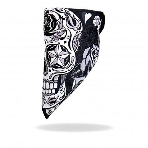 Daywalker Bikestuff Bandana Skull Biker Windbreaker Klettverschluss Nautic Star (Skull) Jet Helm