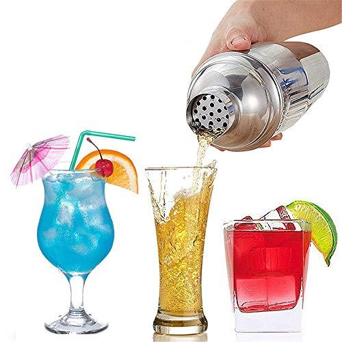 ZPFDM Cocktail Shaker, Martini Shaker Edelstahl in Lebensmittelqualität, 550 ml Drink Shaker, professionelle Barwerkzeuge mit Cocktail-Sieb, Barkeeper-Geschenke