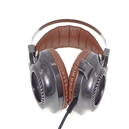 LODDD Portable Surround Stereo Gaming Headset Headband Headphone USB 3.5mm LED with Mic for PC