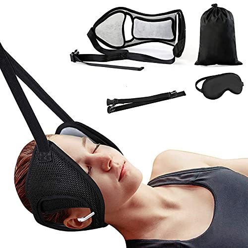 JALIELL Neck Head Hammock, Adjustable Cervical Neck Traction Device for Pain Relief, Portable Neck Stretcher Sling, Easy to Use for Neck Pain Relief and Relaxation at Home