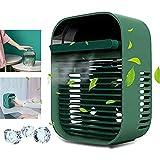 Ventilador de escritorio Mini ventilador de escritorio con humidificador 200 ml Capacidad del tanque de agua 3 engranajes Ajuste de la velocidad del viento adecuado para interiores y exteriores