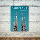 Barcelona Druck: Sagrada Familia Reise-Poster