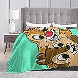 Tnigke Lesmus Chip N Dale Fleece Blanket Throw Blanket for Couch Or Bed - Super Soft Microfiber Fuzzy Flannel Blanket 50'' x40