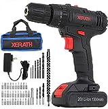 Cordless Drill Driver Kit, 20V Max Impact Hammer...