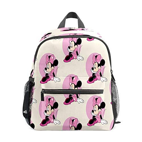 Mochila infantil para niños de 1 a 6 años de edad, mochila de escuela para niños y niñas, bolsa de hombro ligera, mochila perfecta para niños pequeños a Kindergarten Mickey Mouse Minnie