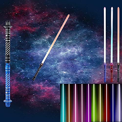 Espada Laser Star Wars, Sable De Luz Splicable Dos En Uno, 7 Juegos De Efectos De Sonido Sable De Luz Force Fx Recargable De 11 Colores RGB Para Cosplay Regalo De Juguete NiñOs