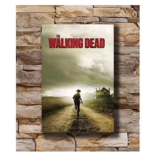 feitao The Walking Dead Season Two TV Series Poster Art LW Impresión En Lienzo Decoración -20X30 Pulgadas Sin Marco