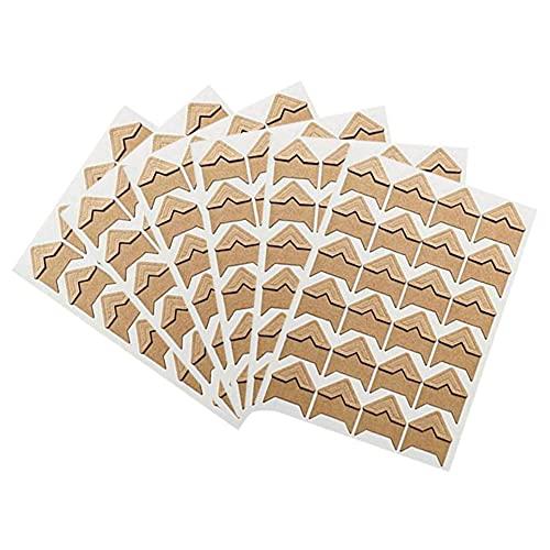 144 pegatinas de esquinas de fotos autoadhesivas para marcos de fotos de papel fotográfico esquinas para álbumes de recortes, lácteos (amarillo)