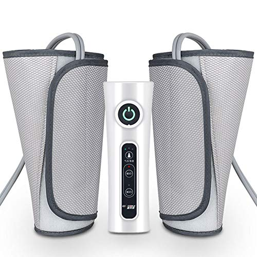 Rechargeable Portable Leg Massager with Heat Circulation and Relaxation Foot and Calf Massage with Handheld Controller 3 Intensities 2 Modes, Best Gifts for Moms and Dads