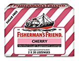 Fisherman's Friend Menthol Cough Suppressant Lozenges Sugar Free Cherry - 40 ct, Pack of 3