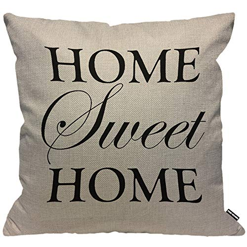 HGOD DESIGNS Kissenbezug Home Sweet Home Brief Kissenhülle Haus Dekorativ Für Männer/Frauen/Jungen/Mädchen Wohnzimmer Schlafzimmer Sofa Stuhl Kissenbezüge 45X45cm