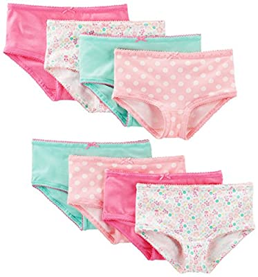 Simple Joys by Carter's Baby Girls' Toddler 8-Pack Underwear, Pink/Mint/Floral, 4-5