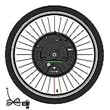 QMRePow 36V 350W Imortor 3.0 Kit de conversión de Bicicleta eléctrica, Kit de conversión de Bicicleta eléctrica de Rueda Delantera Todo en uno con batería/USB (Color : V Wire Control, Size : 24 Inch)