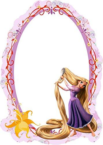 Kinder Spiegel Kinderzimmer - Rapunzel 15cm x 21cm