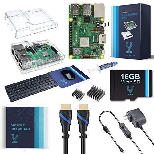 Vilros Raspberry Pi 3 Modell B+ Komplett-Set mit Tastatur und Maus