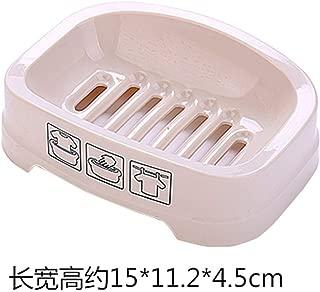 Elegant soap Box Soap Dish Holder/Soap Savers Dish Soap Box with lid Creative Soap Box Bathroom Soap Dish Bathroom Soap Dish Soap Box, Purple (Color : Beige)
