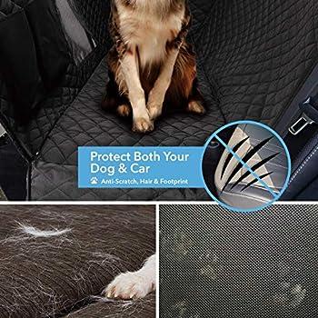 Switory Housse Siège Voiture Chien, Dog Back Seat Cover Protector 900D avec Fenêtre D'Observation Mesh - Poche de Stockage, Housse Banquette Imperméable pour D'auto et VUS, Noir