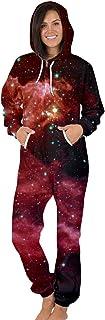 Shujin Unisex men's women's jumpsuit, 3D digital print, jogger jogging suit, tracksuit, jumpsuit with zip, hood, one-piec...