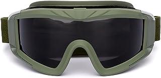 Óculos de proteção es de Airsoft Tactical que disparam vidros Óculos de proteção à prova de vento da motocicleta Wargame
