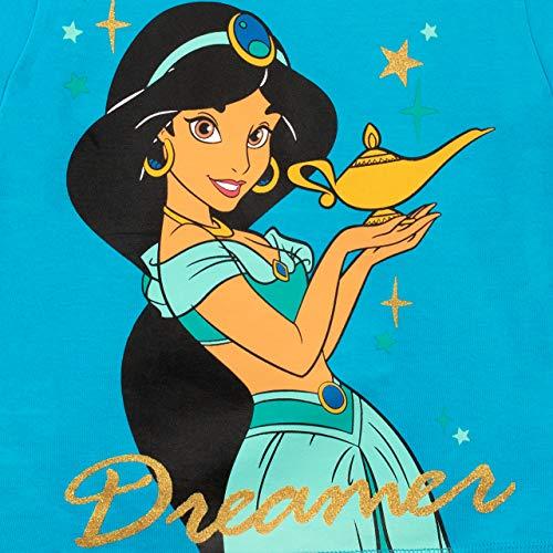 Disney Pigiama a Maniche Lunghe per Ragazze Aladdin Blu 6-7 Anni