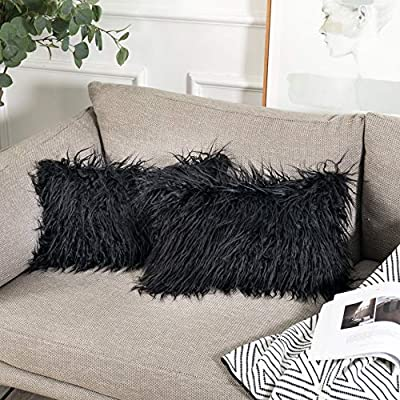 Kevin Textile Decorative New Luxury Series Style Faux Fur Throw Pillow Covers for Sofa