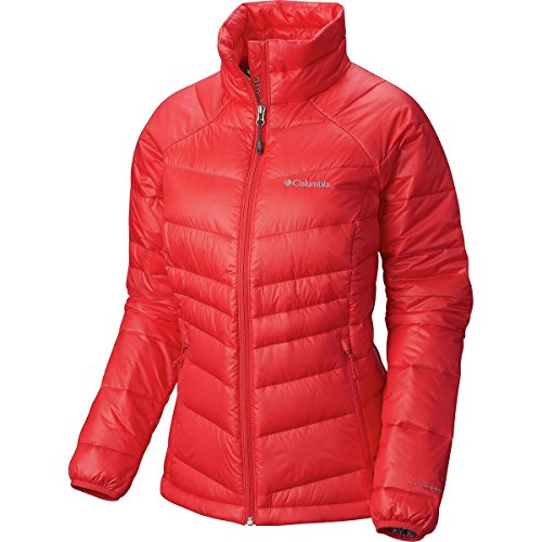 Columbia Women's Gold 650 TurboDown Radial Down Jacket, X-Large, Red Camellia