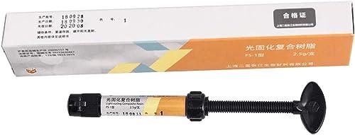 Dental Composite Resin, Teeth Repairing & Filling Materials for LED Light(1#, Light Yellow)