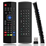 Air Mouse Mini Wireless Keyboard Remote 2.4G Multifunctional Universal W Infrared Learning Air Control for Android Smart TV Box, 3-Gyro and 3-Gsensor, G Box HTPC Mini PC, PS3/4 Xbox 360 with USB