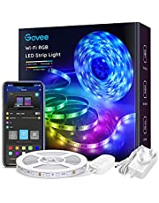 Govee LED Strip Lights 5m, Smart WiFi APP Control RGB Colour Changing Music Sync Strips Lights for Home Kitchen Bedroom TV Party, Works with Alexa, Google Assistant