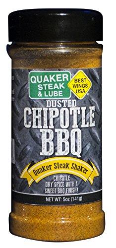 Quaker Steak and Lube Chipotle BBQ Seasoning Shaker - 5 Ounce Plastic Bottle of Quaker Steak & Lube Chipotle BBQ Seasoning Shaker