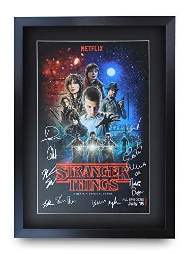 HWC Trading Stranger Things A3 Incorniciato Firmato Regalo Visualizzazione delle Foto Print Immagine Autografo Stampato per TV Show Fan