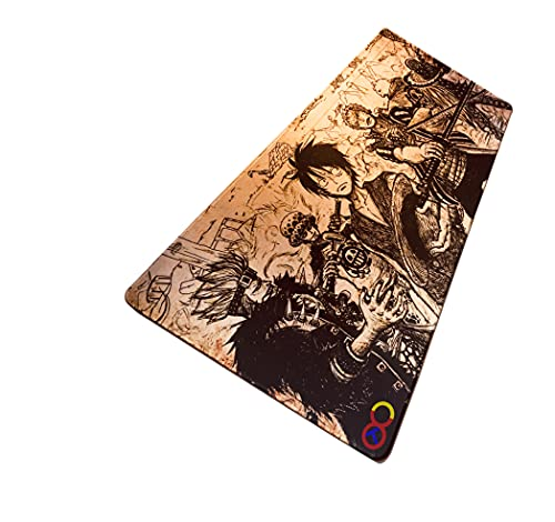 Large Gaming Mouse Pad One Piece Animation 36 x 16 x .1 Inches