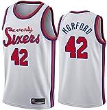 NBA Basketball Jersey Filadelfia 76ers 42# al Horford clásico sin Mangas de Baloncesto sin Mangas Camiseta Transpirable Moda Masculina (Color : B, Size : X-Large)