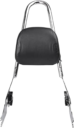 discount Mallofusa popular Motorcycle Sissy Bar Passenger Backrest Pad Rack Compatible for lowest Sportster XL 883 1200 Chrome sale