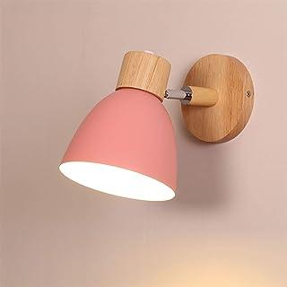 WEM Lampes murales, lampe de lavage murale en bois moderne, E27 luminaire intérieur lampe murale rotative lampes de chevet...
