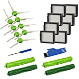 Mochenli Replacement Parts Kit for iRobot Roomba i7 i7+/i7 Plus E5 E6 Vacuum Cleaner.Replacement Parts Set (2 Set of Multi-Surface Rubber Brushes,8 Side Brushes,8 Filters,2 Tools).