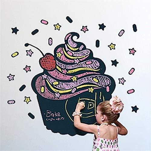 LBKKBL Creatief IJs Krijtbord/Blackboard Schilderij Home Decal Muursticker Quote 3D DIY Kinderkamer Kwekerij Wanddeur Mural Art Woonkamer, Thuis,Slaapkamer 30 * 60