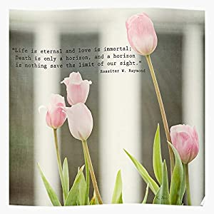 Sympathy Immemorial Flowers Tulips Memorial Home Decor Wall Art Print Poster !
