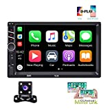 Hikity Autoradio Car Stereo Double Din 7 Inch HD Touch Screen Radio Bluetooth FM with USB/AUX-in/RCA/Rear View...