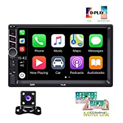 Autoradio: 178(L)*65(W)*100(H)mm, 7 inch capacitive screen designed. With SD Card/USB/AUX-in/RCA port. Seven-color key backlights adjustable D-Play/Mirror Link for Phone: Connect with mobile phone to access mobile phone contacts, email, notification,...