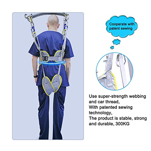 51YF6iKkuFL - WLKQ Paciente Honda Levantador Grúa Paciente Cuerpo Completo Elevación Paciente Cabestrillo Malla De Seguridad Médica Eslinga De Elevación para Enfermería, Ancianos, Discapacitados
