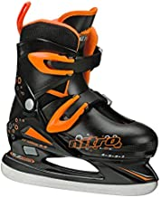 Lake Placid Boys Nitro 8.8 Adjustable Figure Ice Skate, Black/Orange, Small (11-13)